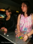 Playing arcade games at the Bacon Social